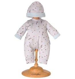 Corolle Grey stars pajamas and hat