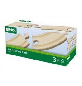 Brio Short Curved Tracks Brio