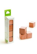 Tegu A la carte Cubes Magnetic Wooden blocks (Acajou) - Tegu