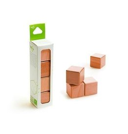 Tegu A la carte Cubes Magnetic Wooden blocks (Acajou) - Tegu