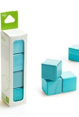 Tegu A la carte Cubes Magnetic Wooden blocks (Bleu) - Tegu