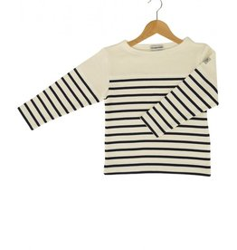 Armor Lux Long-sleeve T-shirt beige and navy blue Size 2 years