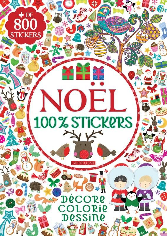 Livre Christmas Stickers (800 stickers)