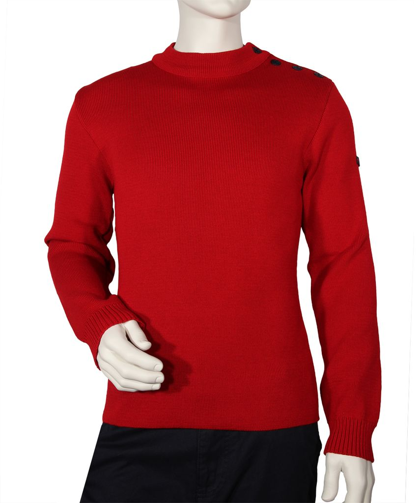 Armor Lux Pull marin Fouesnant - Taille 8 - rouge