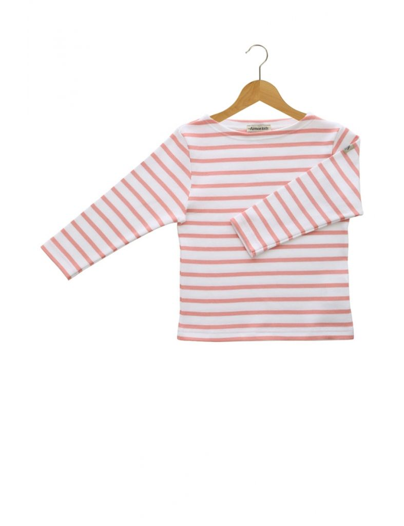 Armor Lux White and Langoustine Sailor Sweater - 4 yrs
