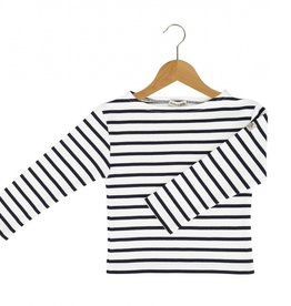 Armor Lux White and Marine Sailor Sweater - 8 yrs