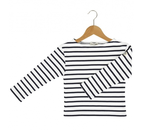 Armor Lux White and Marine Sailor Sweater - 4 yrs