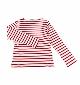Armor Lux White and Red Sailor Sweater - 4 yrs