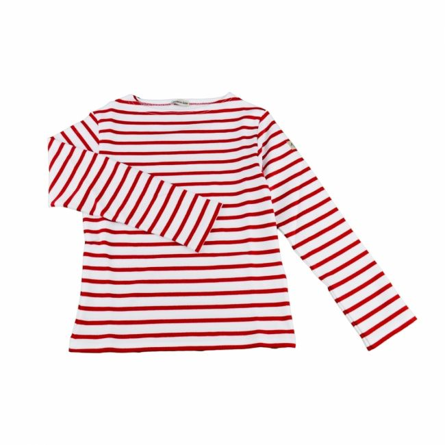 Armor Lux White and Red Sailor Sweater - 6 yrs