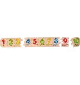Goki Puzzle nombre en bois Goki