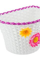 Sunlite Plastic Basket  w/Flowers Small