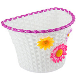 Sunlite Plastic Basket  w/Flowers Small