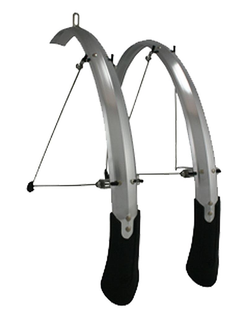 Planet Bike Cascadia ALX Hybrid Fender Set 43mm (700x25-35 Tire) Silver