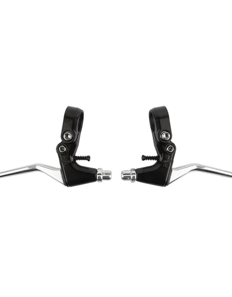 Sunlite Short Pull Alloy Brake Lever: Pair Silver/Black