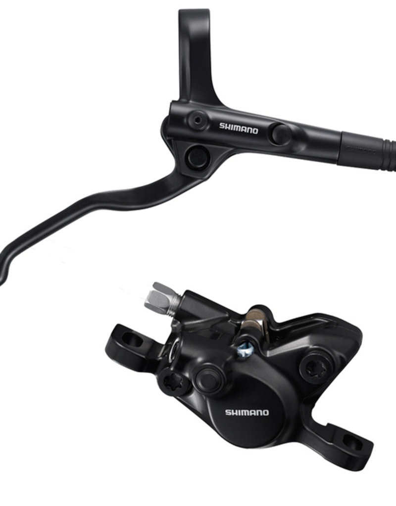 Shimano Alivio BL-MT200/BR-MT200 Disc Brake and Lever - Rear, Hydraulic, Post Mount, Resin Pads, Black