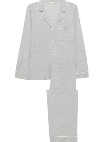 Eberjey Gisele Long PJ Set Ribbon