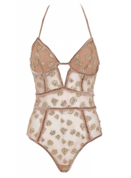 For Love & Lemons Golden Garden Bodysuit
