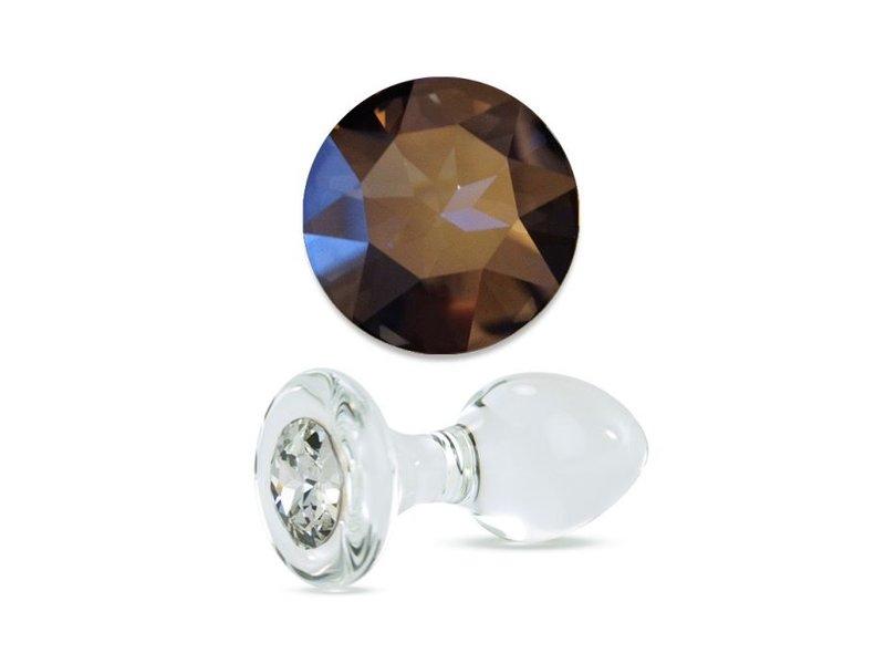 Crystal Delights Crystal Delights Short Stem Medium Clear Plug (Mystique)