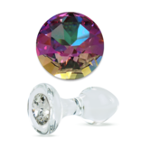 Crystal Delights Crystal Delights Short Stem Small Clear Plug