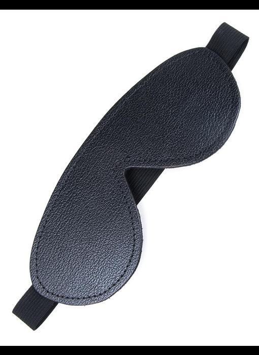 Fleece-Lined Leather Blindfold