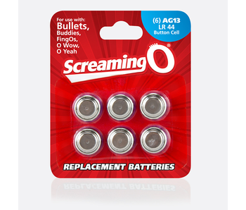 Screaming O AG13 Button Cell Batteries (Pack of 6)
