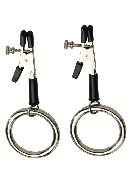 Alligator Tip Nipple Clamps with Bully Rings