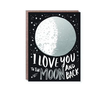 """To The Moon"" Hello Lucky Gift Card"