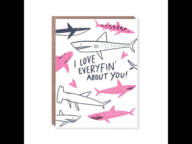 """""""Love Everyfin"""" Hello Lucky Gift Card"""