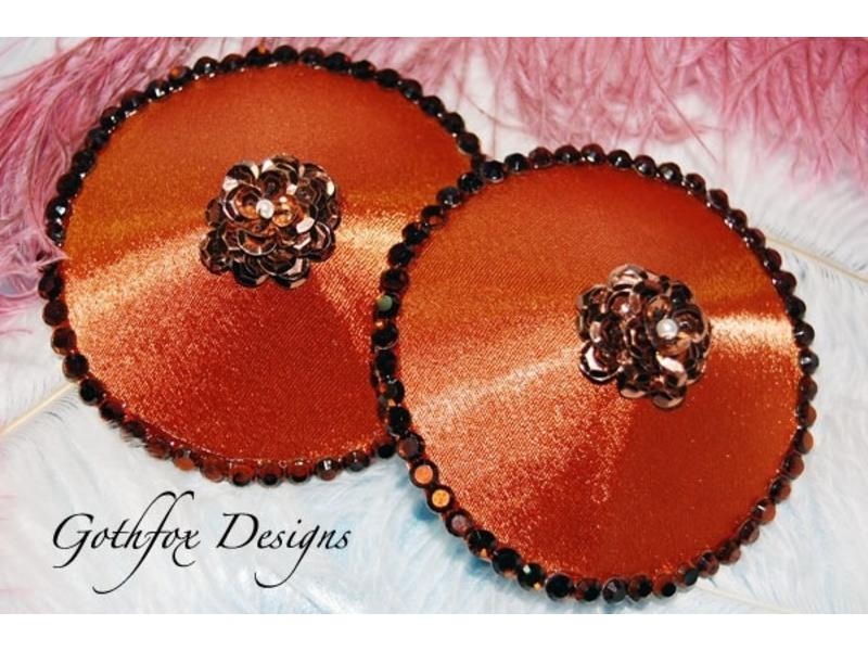 Gothfox Gothfox Couture Steamy Copper Pasties