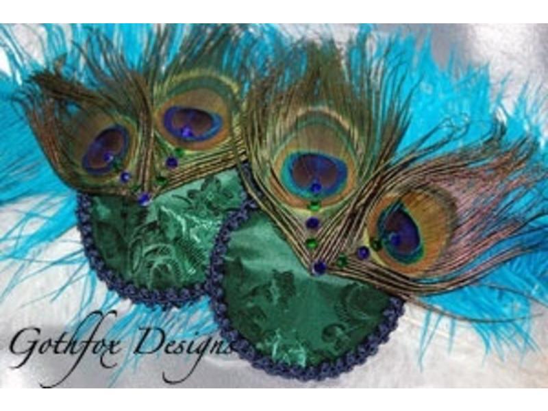 Gothfox Gothfox Peacock Baby Pasties