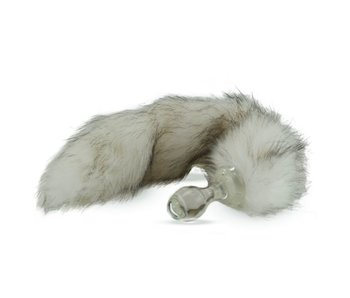 Minx Faux Tail Short Stem Small Plug (Tundra Wolf)