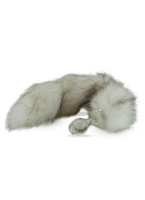 Minx Faux Tail Short Stem Small Plug (Tundra Wolf)