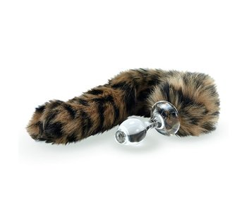 Minx Faux Tail Short Stem Small Plug (Leopard)