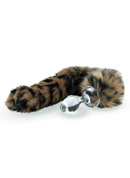 Minx Faux Tail Short Stem Small Plug (Leopard)