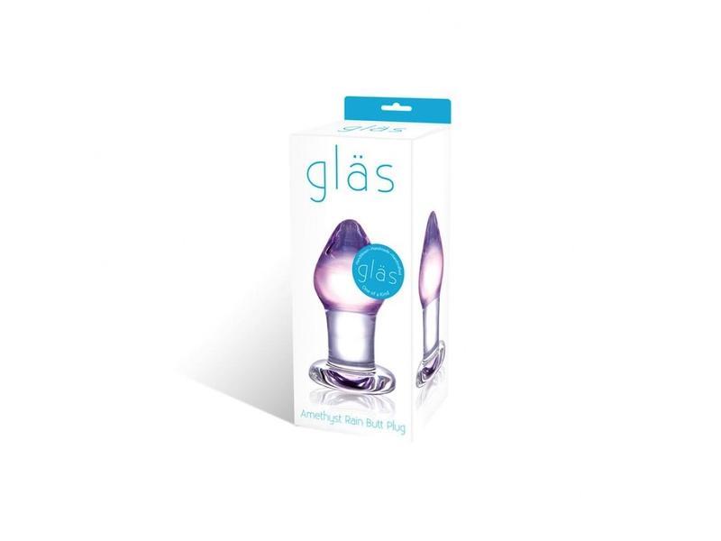 Glas Amethyst Rain Glass Butt Plug
