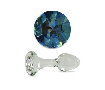 Long Stem Small Clear Plug (Blue)