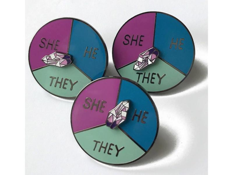 NY Toy Collective Pronoun Pin