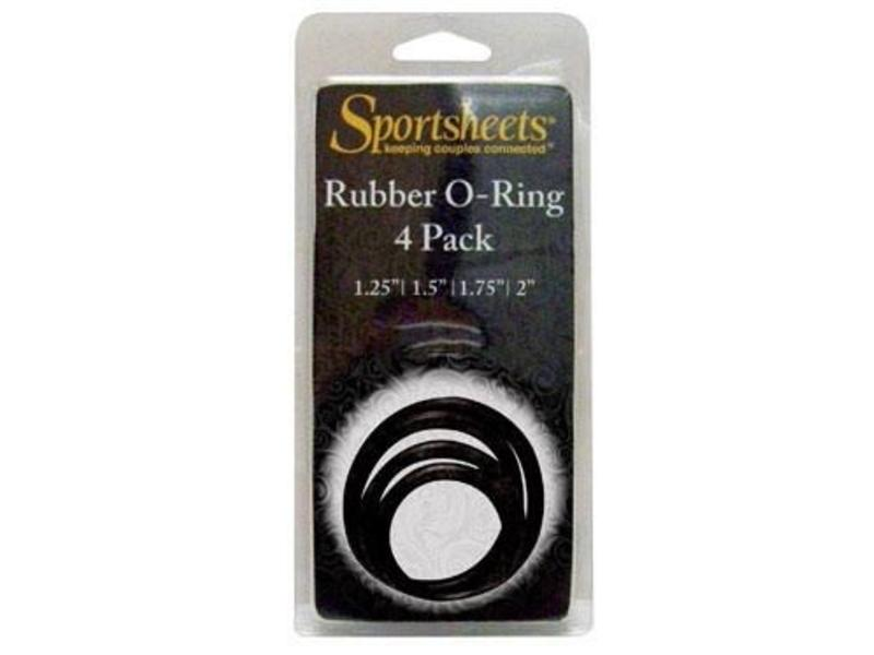 Sportsheets Sportsheets Rubber O-Ring 4 Pack