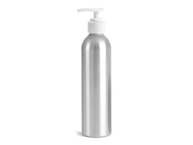 Empty Aluminum Pump Bottle