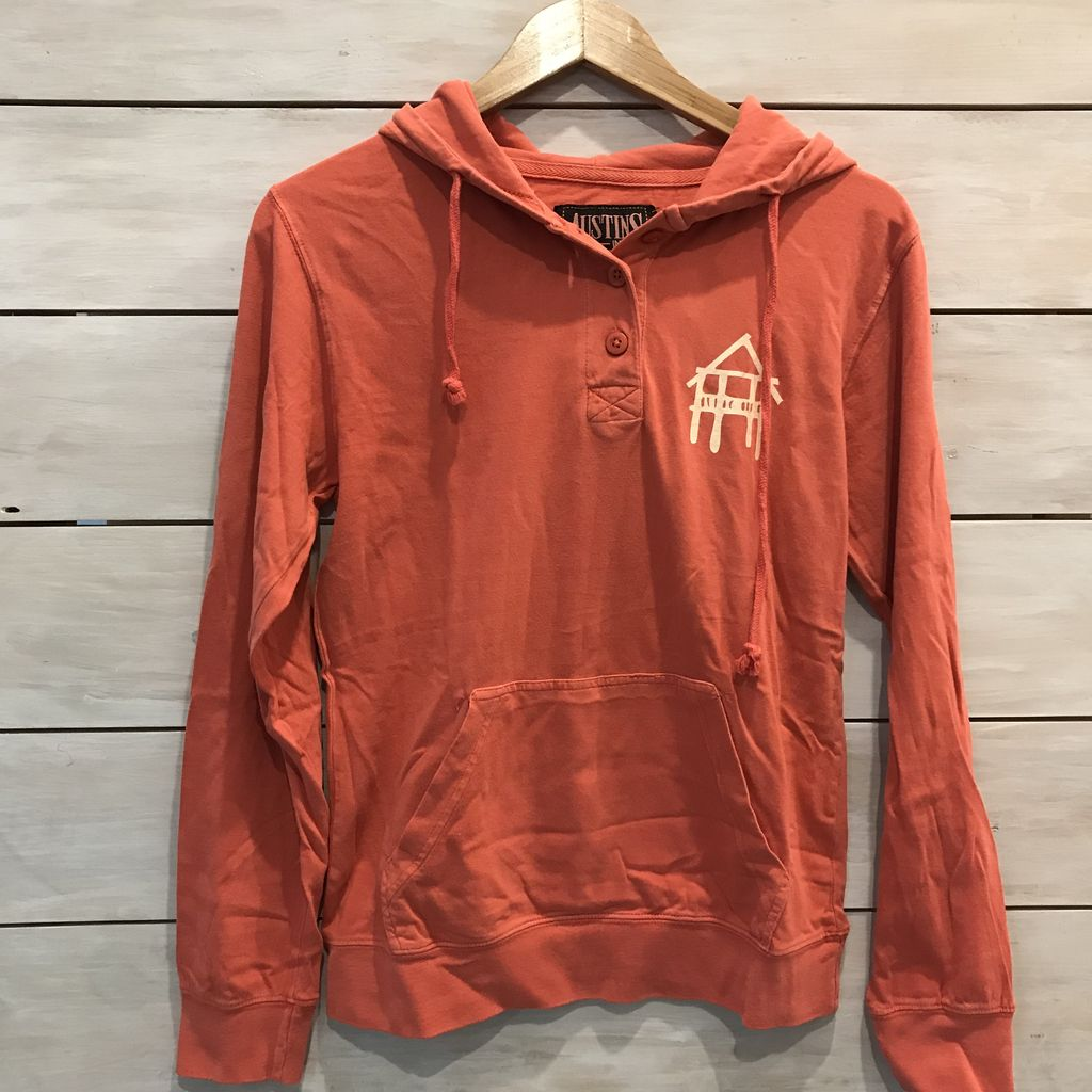 3 Button Hooded T