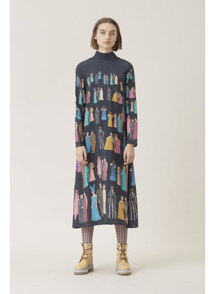 STINE GOYA STINE GOYA SILK PLACEMENTS DRESS