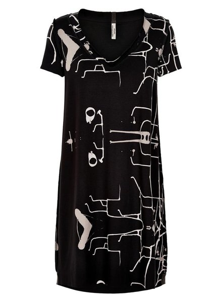 HENRIETTE STEPHENSEN PRINTED SHORT SLEEVE DRESS