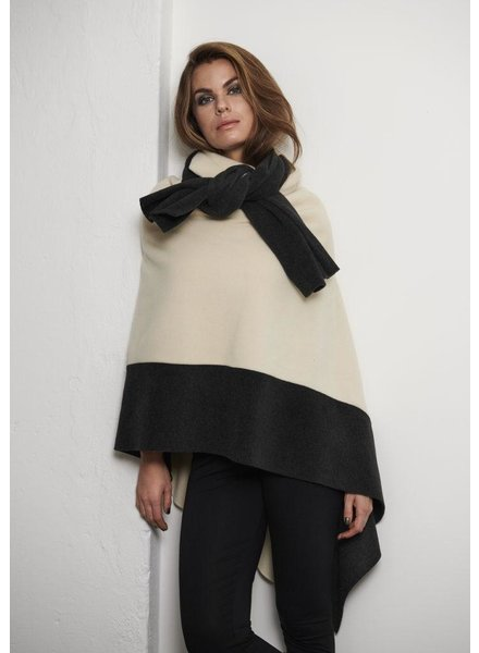 HENRIETTE STEFFENSEN TWO COLOR PONCHO