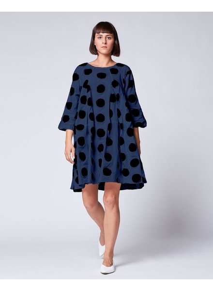 BACI BACI COTTON POLKA DOT DRESS