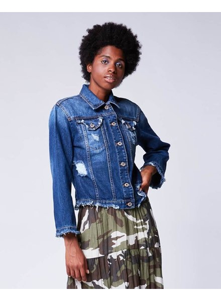 BACI RAW EDGE DENIM JACKET