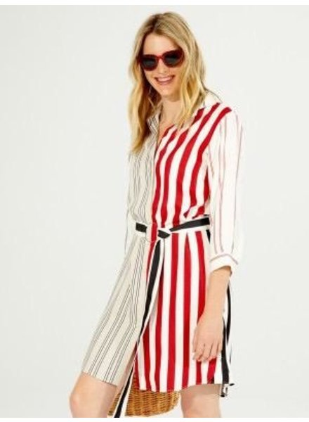 VILAGALLO VILAGALLO DOVER STRIPE DRESS