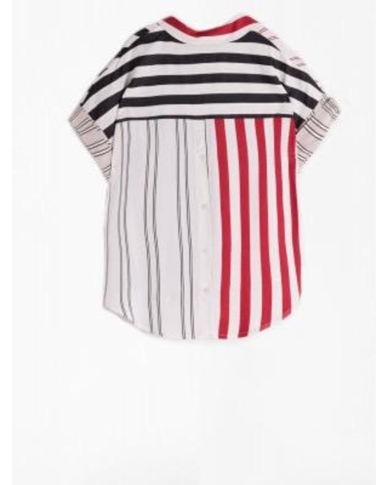 VILAGALLO VILAGALLO MONICA STRIPE SHIRT