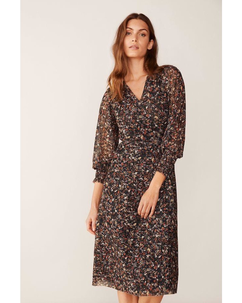PART TWO EDIE PAINTED FLOWER PRINT DRESS