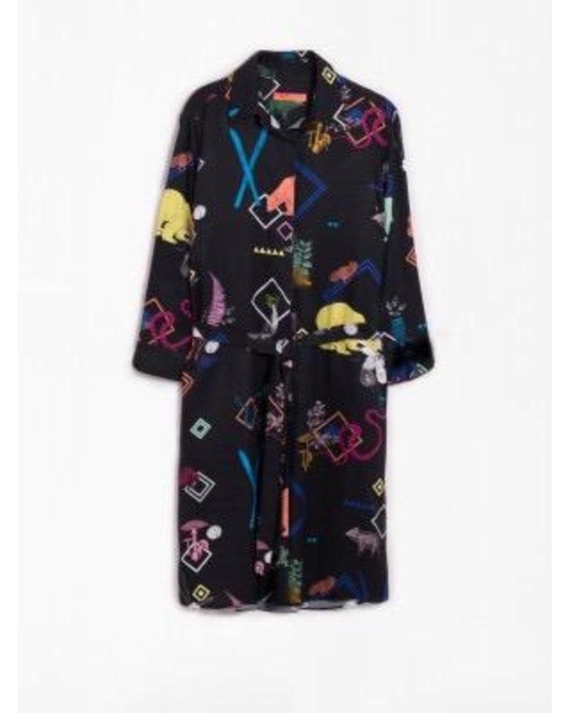 VILAGALLO VILAGALLO WOVEN DRESS