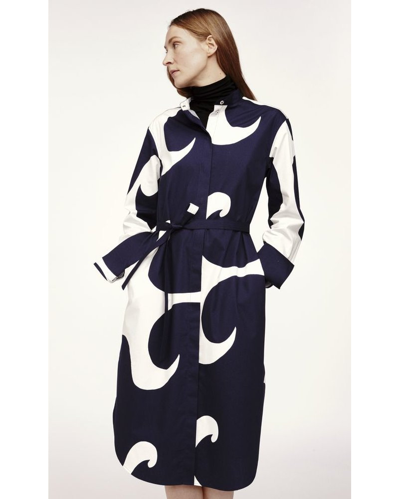 MARIMEKKO MARIMEKKO PAJU JOKERI DRESS OFF-WHITE/DARK BLUE